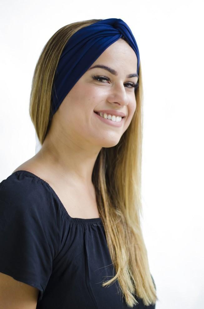 Turbante Dora - Azul Marinho