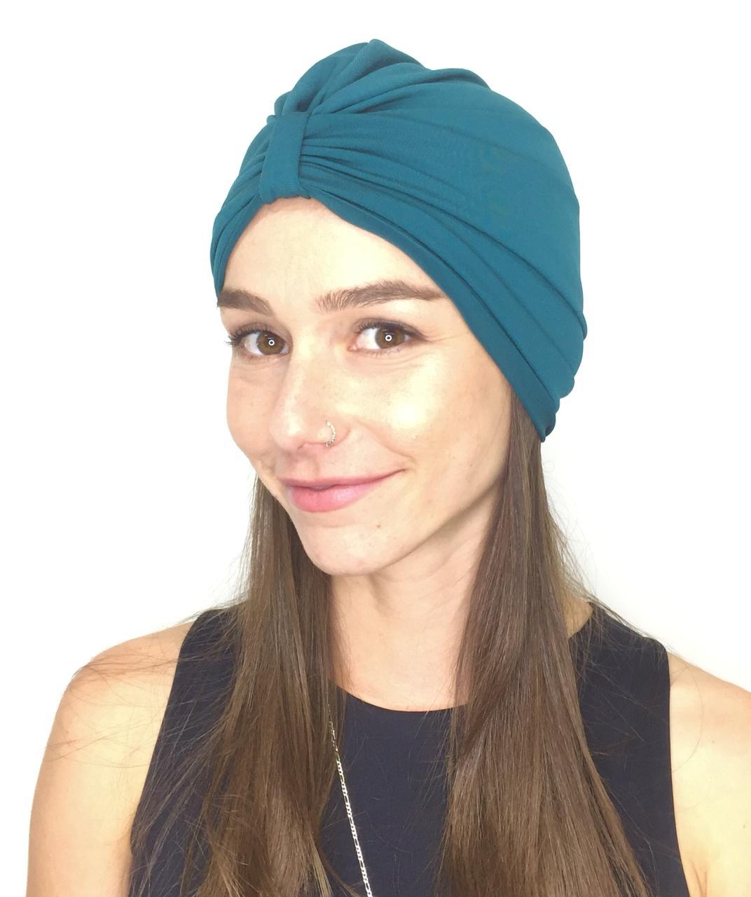 Turbante Teodora - Azul Petróleo