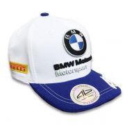 BONÉ ALEX BARROS BMW MOTORRAD BRANCO/AZUL