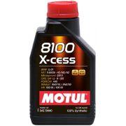 ÓLEO MOTUL 8100 X-CESS 5W40 100% SINTÉTICO 1L