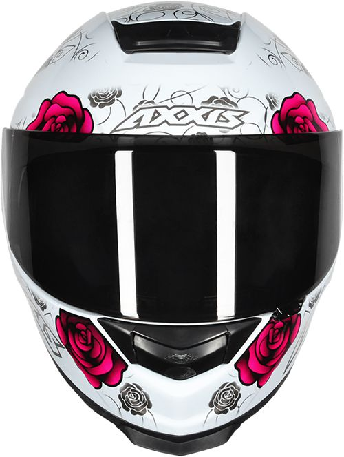 CAPACETE AXXIS EAGLE FLOWERS BRANCO/ROSA BRILHANTE