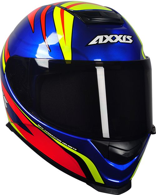 CAPACETE AXXIS EAGLE HYBRID AZUL RACE BRILHANTE