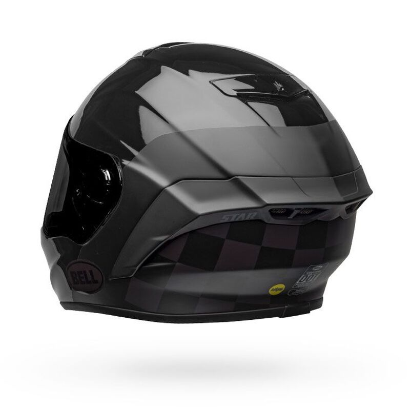 CAPACETE BELL STAR DLX MIPS LUX CHECKERS MATTE GLOSS BLACK + VISEIRA PROTINT