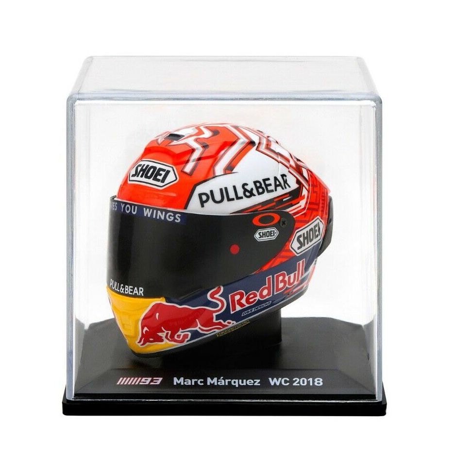 CAPACETE MARC MARQUEZ WORLD CHAMPION 2018 - MINIATURA