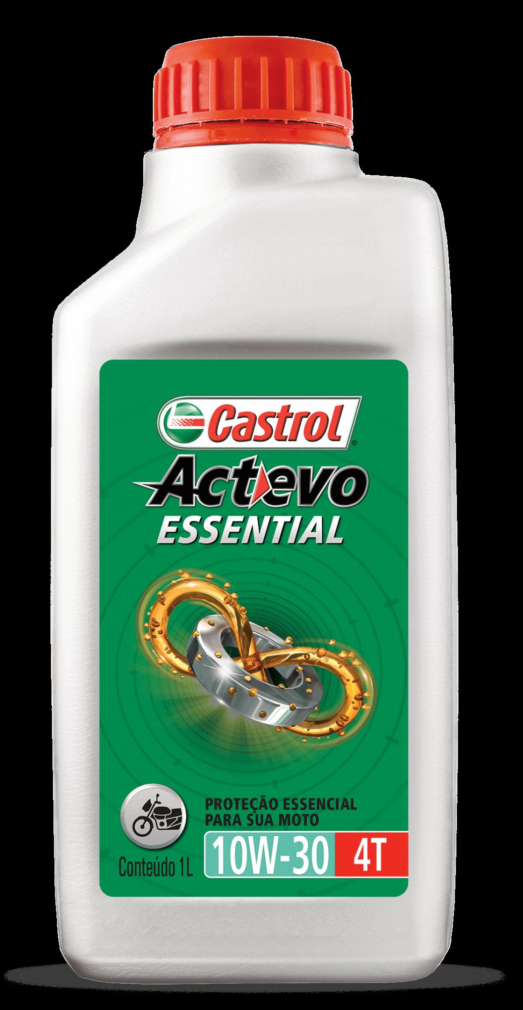 ÓLEO CASTROL ACTEVO ESSENTIAL 10W30 4T 1L