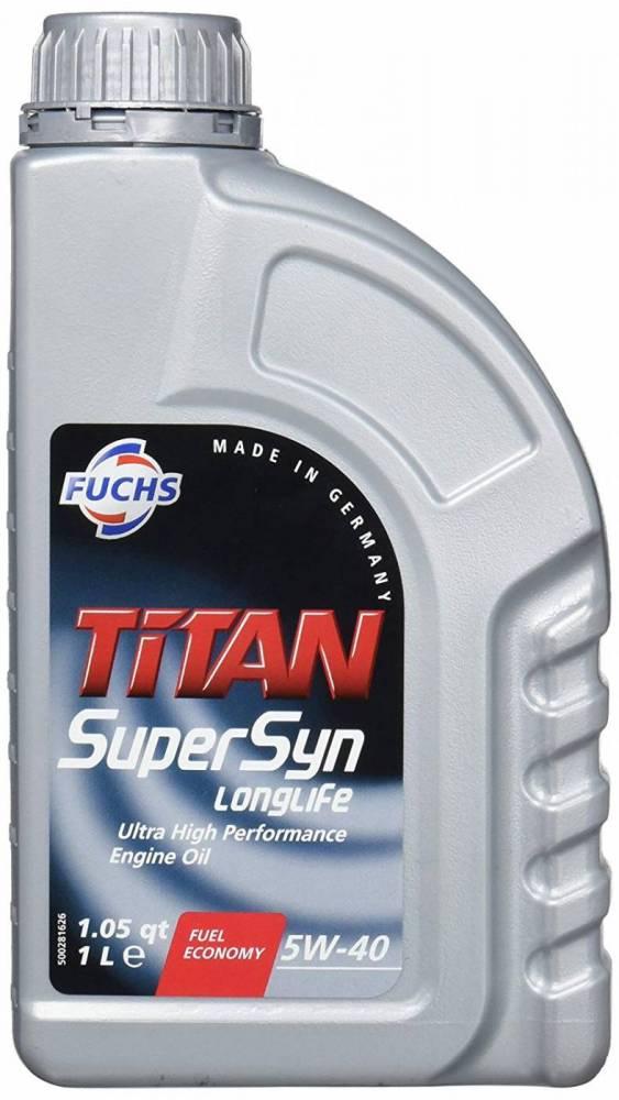 ÓLEO FUCHS TITAN SUPERSYN LONGLIFE 5W40 SINTÉTICO 1L