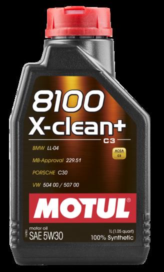 ÓLEO MOTUL 8100 X-CLEAN+ C3 5W30 100% SINTÉTICO 1L