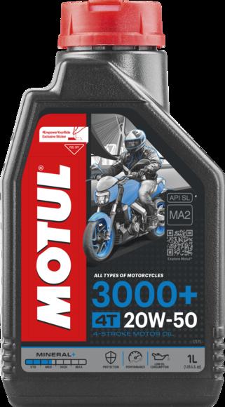 ÓLEO MOTUL 3000+ 20W50 4T MINERAL 1L