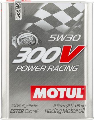 ÓLEO MOTUL 300V POWER RACING 5W30 100% SINTÉTICO 2L