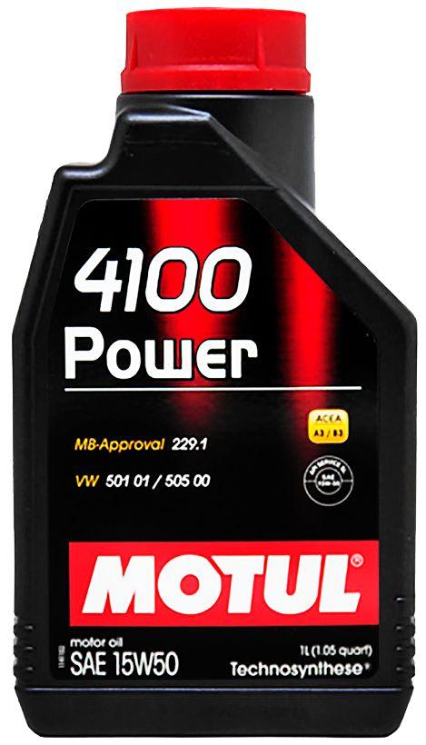 ÓLEO MOTUL 4100 POWER 15W50 SEMISSINTÉTICO 1L
