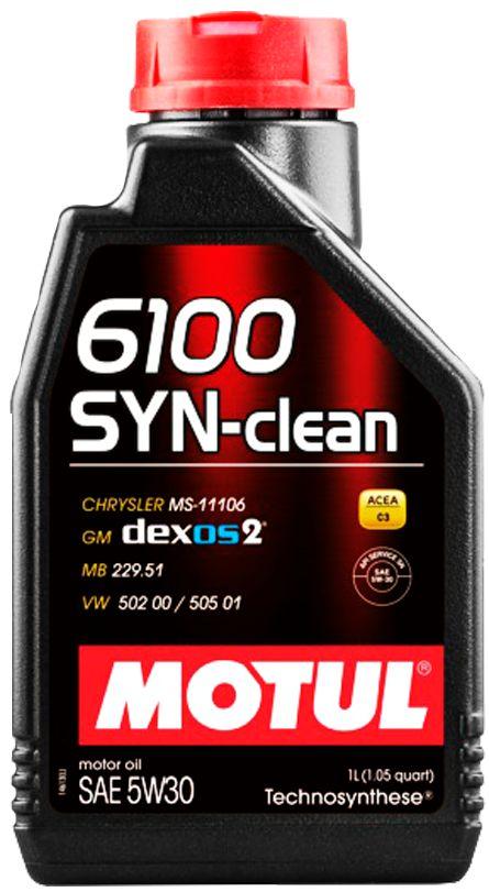 ÓLEO MOTUL 6100 SYN-CLEAN 5W30 SEMISSINTÉTICO 1L
