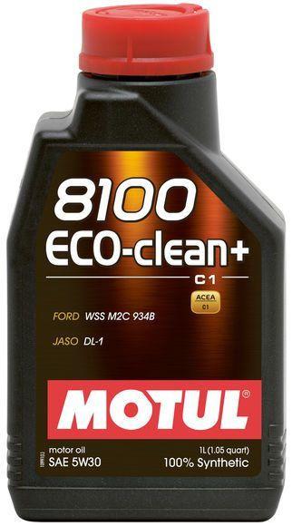 ÓLEO MOTUL 8100 ECO-CLEAN+ 5W30 SINTÉTICO 1L