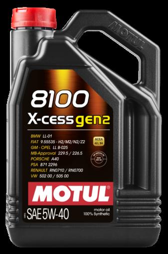 ÓLEO MOTUL 8100 X-CESS GEN2 5W40 100% SINTÉTICO GALÃO 4L
