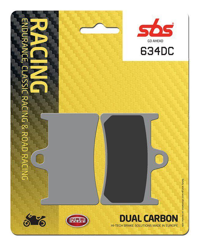 PASTILHAS DE FREIO SBS 634DC RACING CARBONO DUPLO