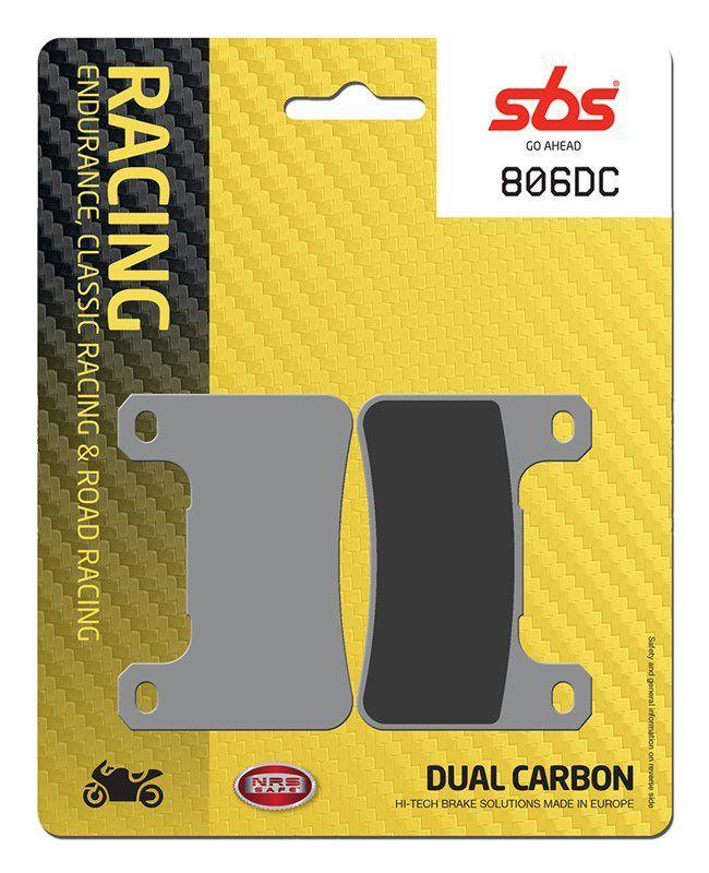 PASTILHAS DE FREIO SBS 806DC RACING CARBONO DUPLO
