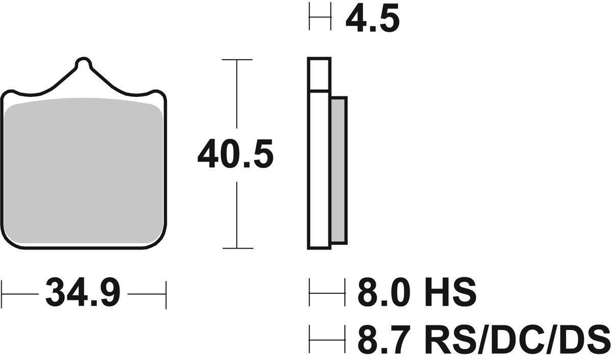 PASTILHAS DE FREIO SBS 870DC DIANTEIRA RACING CARBONO DUPLO - BMW S1000RR 2010-2019