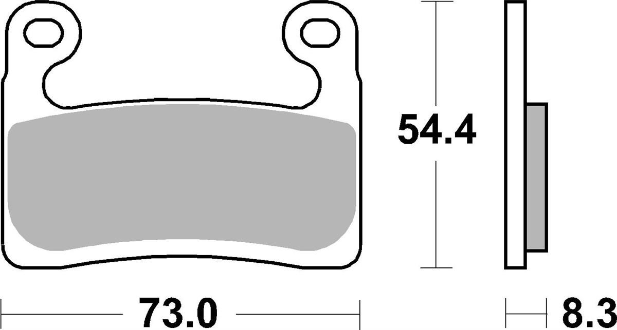 PASTILHAS DE FREIO SBS 960DC DIANTEIRA RACING CARBONO - BMW R1250GS 2019-2021