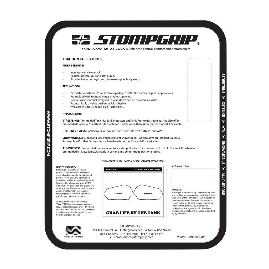 PROTETOR DE TANQUE STOMPGRIP - SUZUKI 11-18 GSX-R600