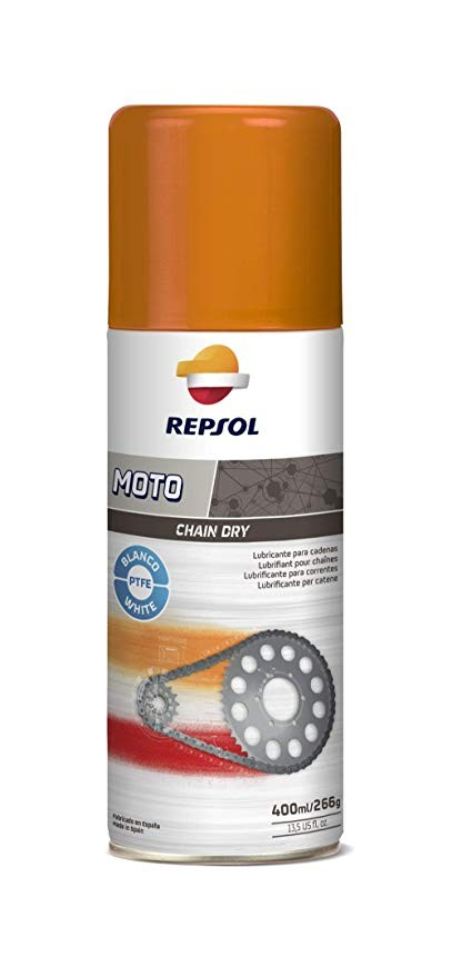 SPRAY LUBRIFICANTE PARA CORRENTE REPSOL MOTO CHAIN DRY 400ML