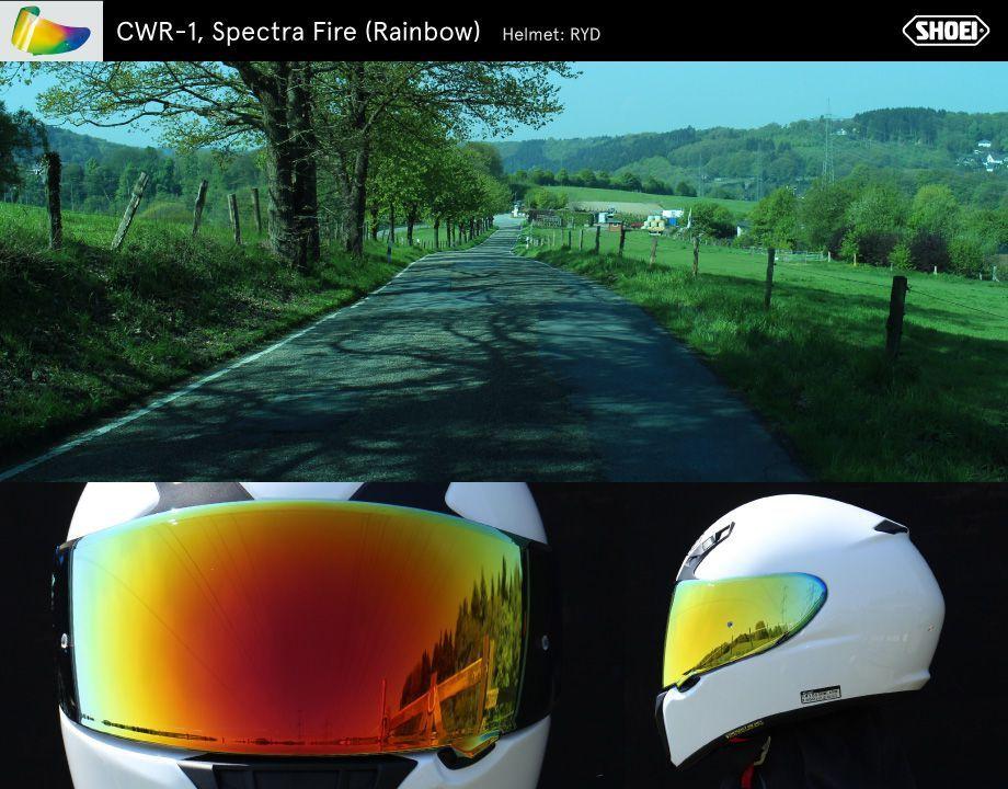 VISEIRA SHOEI CWR-1 - SPECTRA LARANJA FOGO