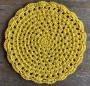 Jogo Americano Amarelo em Crochê