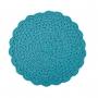 Jogo Americano Croche Cor:Tiffany - 4 Unid