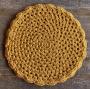 Jogo Americano Crochê Mostarda