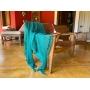 Manta Para Sofá Cama Decorativa Poltrona Banco Área Externa, Sala De Estar,Tv Cobre Leito Lena 1,20x1,80 Cor: Azul