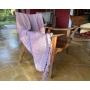 Manta Para Sofá Cama Decorativa Poltrona Banco Área Externa, Sala De Estar,Tv Cobre Leito Lena 1,20x1,80 Cor:Rosa