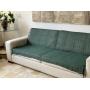 Manta Para Sofa E Cama Lena Decorativa Xale 1,2x1,8 Colorida Cor:Verde-musgo