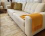 Manta Para Sofá Cama Decorativa Poltrona Banco Área Externa, Sala De Estar,Tv Cobre Leito Lena 1,20x1,80 Cor: Amarela Modelo Sofi