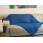 Manta Para Sofá Cama Decorativa Poltrona Banco Área Externa, Sala De Estar,Tv Cobre Leito Lena 1,20x1,80 Cor: Azul Royal Modelo Sofi