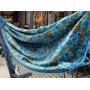 Rede Azul Turquesa em gorgurão floral
