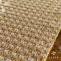 Trilho de Mesa Amarelo e Crú em algodão 0,33x1,50m