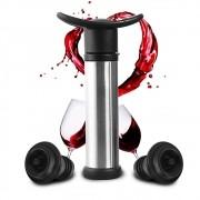Bomba de Vinho a Vácuo Inox 2 Rolhas de Silicone