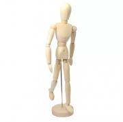 Boneco Flexível de Madeira 30cm