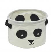 Cesto Organizador Dobrável de Tecido Panda