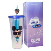 Copo com Canudo Mickey 650ML