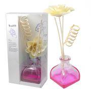 Difusor Aromatizador de Ambientes Vaso Vidro Rosa