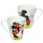 KIt 2 Canecas Mickey Minnie Disney Romance My Heart 330ml