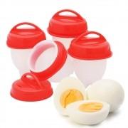 Kit 4 Forma de Silicone para Cozinhar Ovos