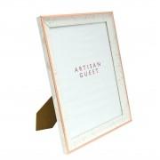 Porta Retrato Detalhe Carrara Prata ou  Rose gold 20X25