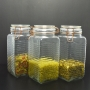 3 Potes de Vidro Hermético Quadrado com Trava Cobre 2L