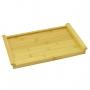 Bandeja de Bambu Retangular para Servir Com Alça 35cm