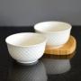Bowl Tigela de Porcelana Branco 400ml Kit com 2 Peças md2