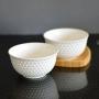 Bowl Tigela de Porcelana Branco 400ml Kit com 2 Peças md3