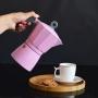 Cafeteira Italiana Moka Alumínio Rosa 6 Xícaras