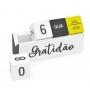 Calendário Permanente de Madeira Dia Mês e Semana Gratidão