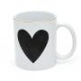 Caneca Branca de Porcelana Coração Big Heart 350ml