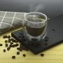 Copo Parede Dupla de Vidro Café 140ml 2 Peças